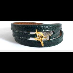 Ippolita NWT Green Spruce Wrap Bracelet 18K toggle